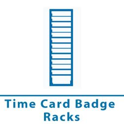 time card badge racks