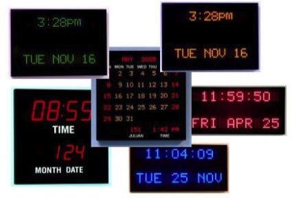 Digital Calendars Canada Calendar Clocks Enterprise Time